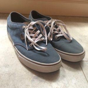 Size 10 blue Vans canvas sneakers